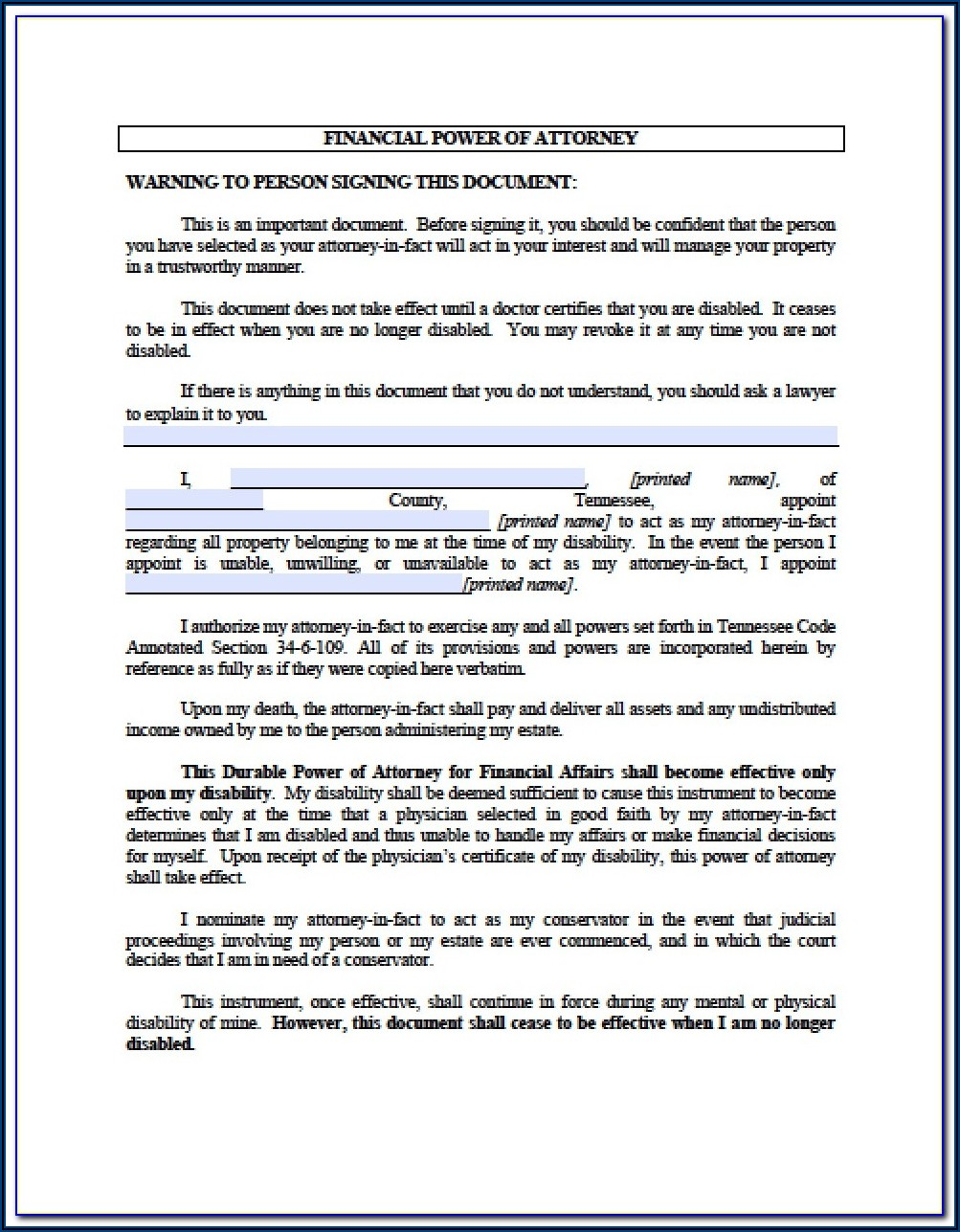 Nh Durable Power Of Attorney Form
