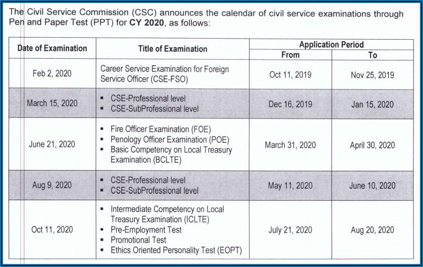 Nys Civil Service Exam Announcements 2020