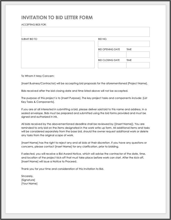 Painting Contractor Proposal Forms Free