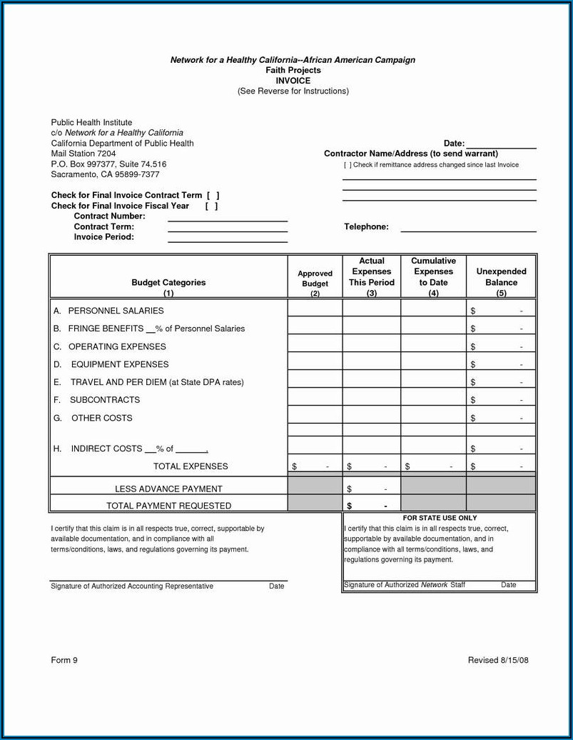 Pest Control Invoice Template