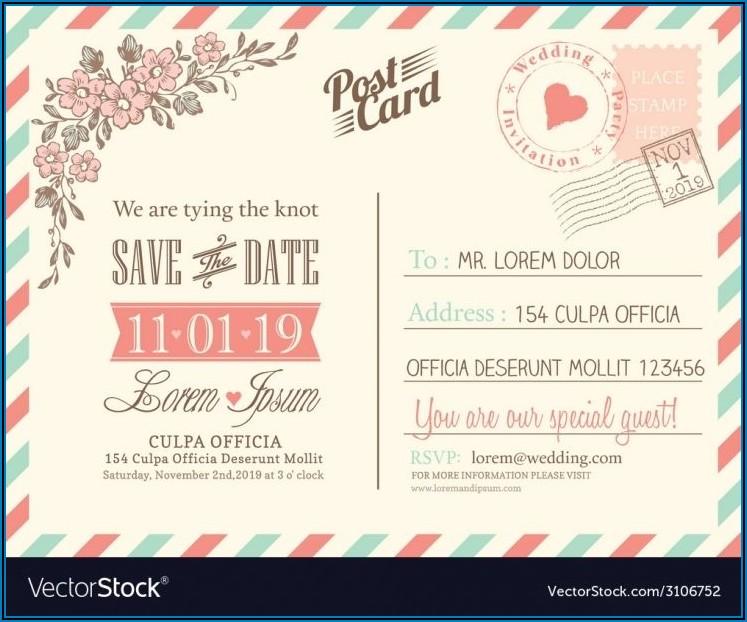 Postcard Invites Templates Free