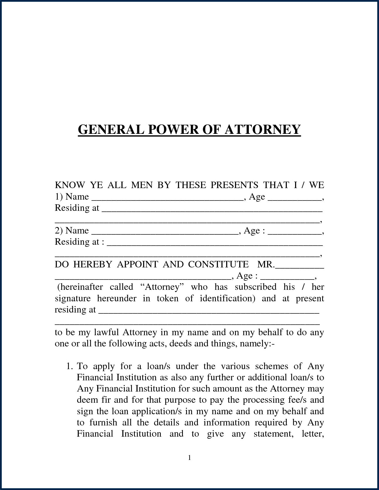 Power Of Attorney Form Medical Ohio