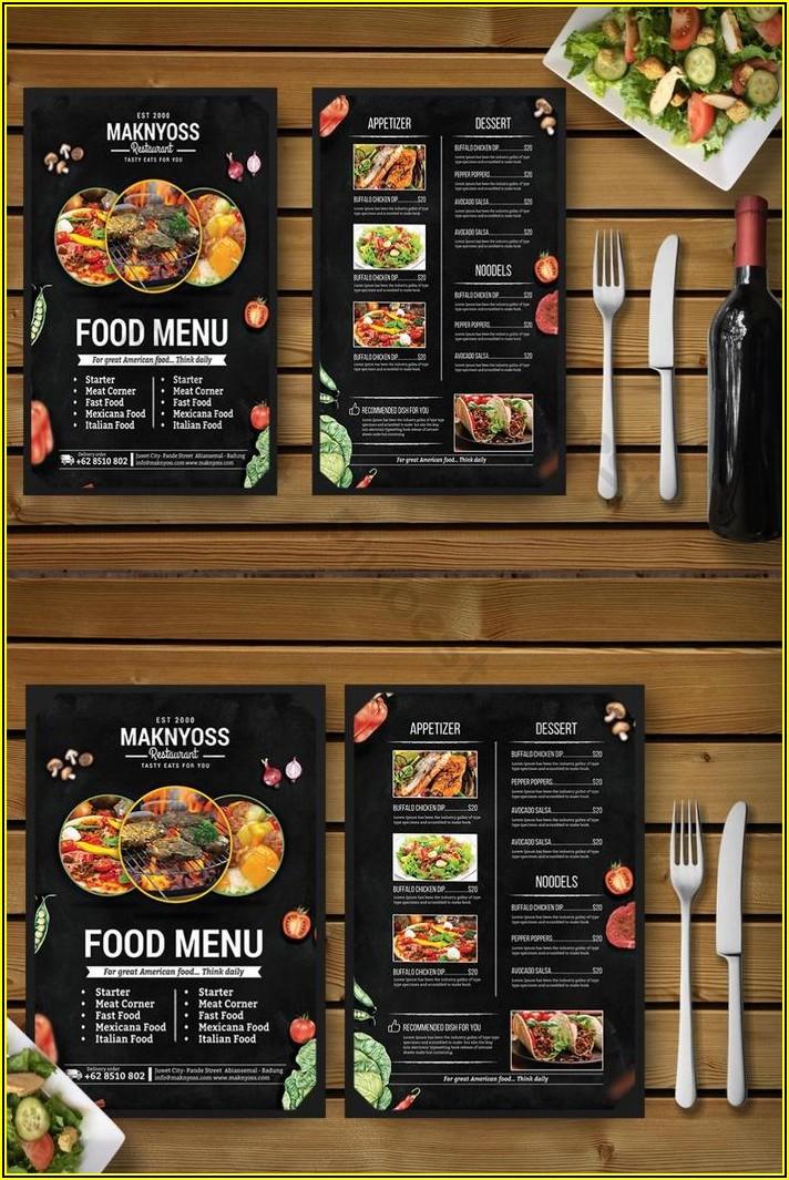Restaurant Menu Template Free Download Psd