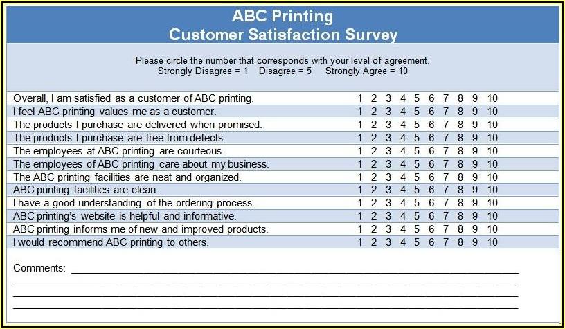 Sample Client Satisfaction Survey Questions