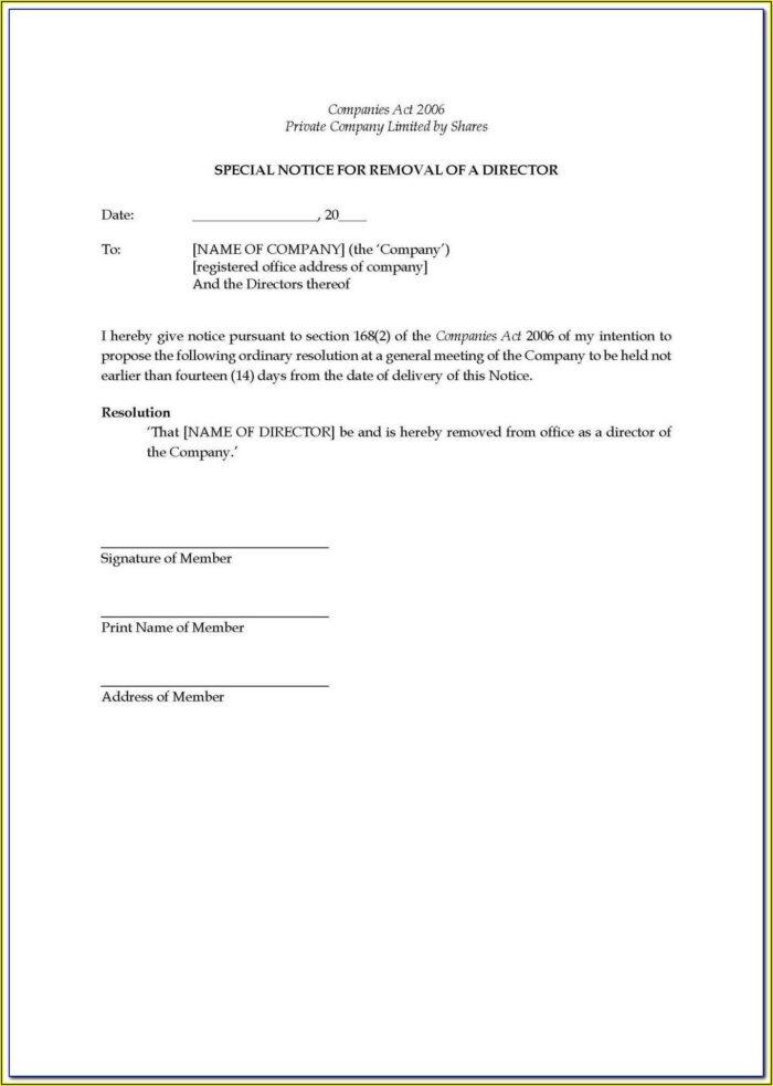 Shareholder Resolution Template Singapore