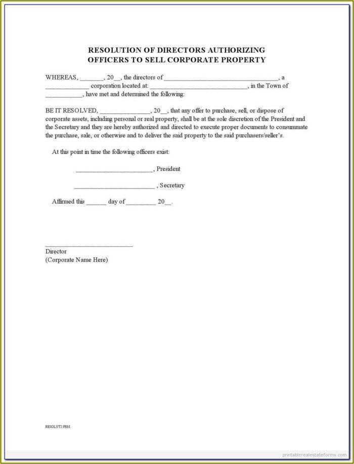 Shareholder Resolution Template Uk
