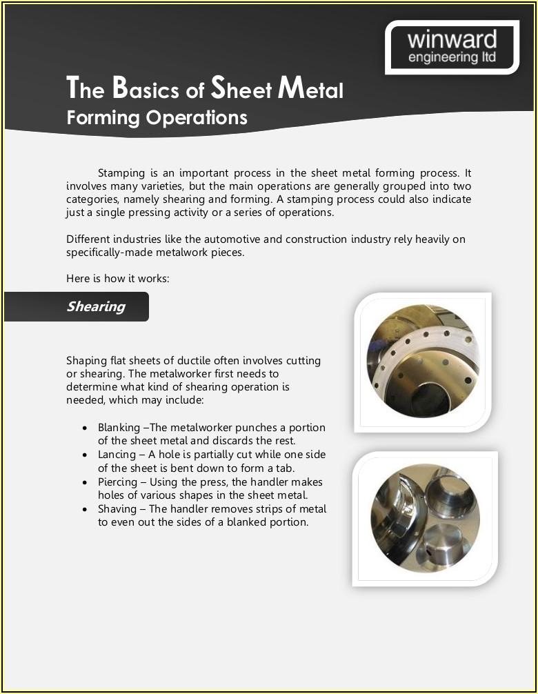 Sheet Metal Forming Basics