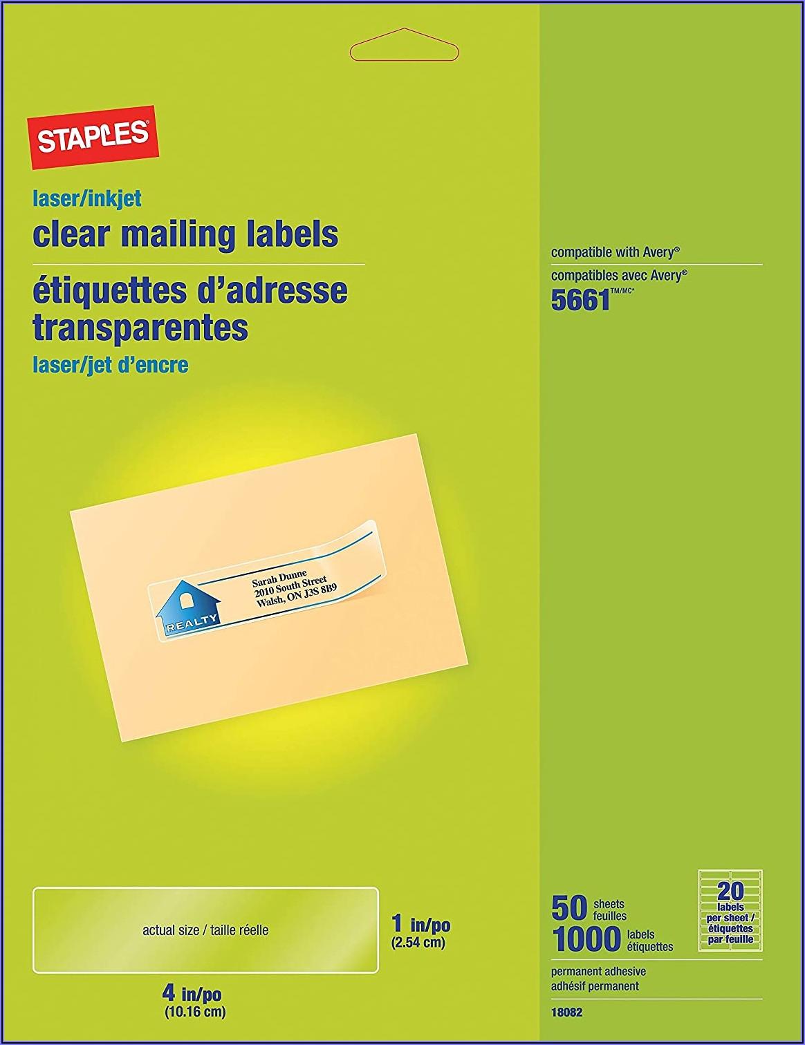 Staples Labels 18 Per Sheet Template