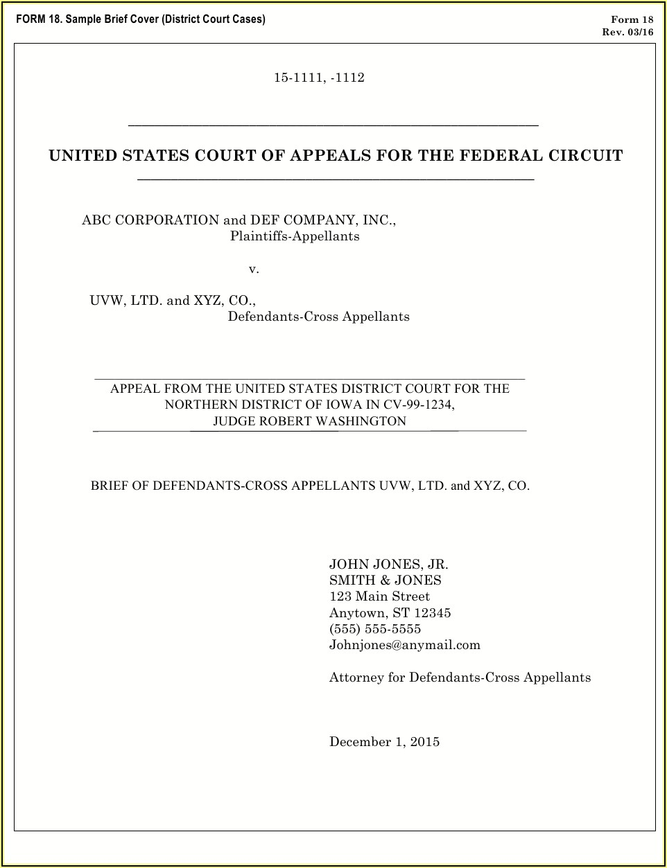 Supersedeas Bond Form Federal Court