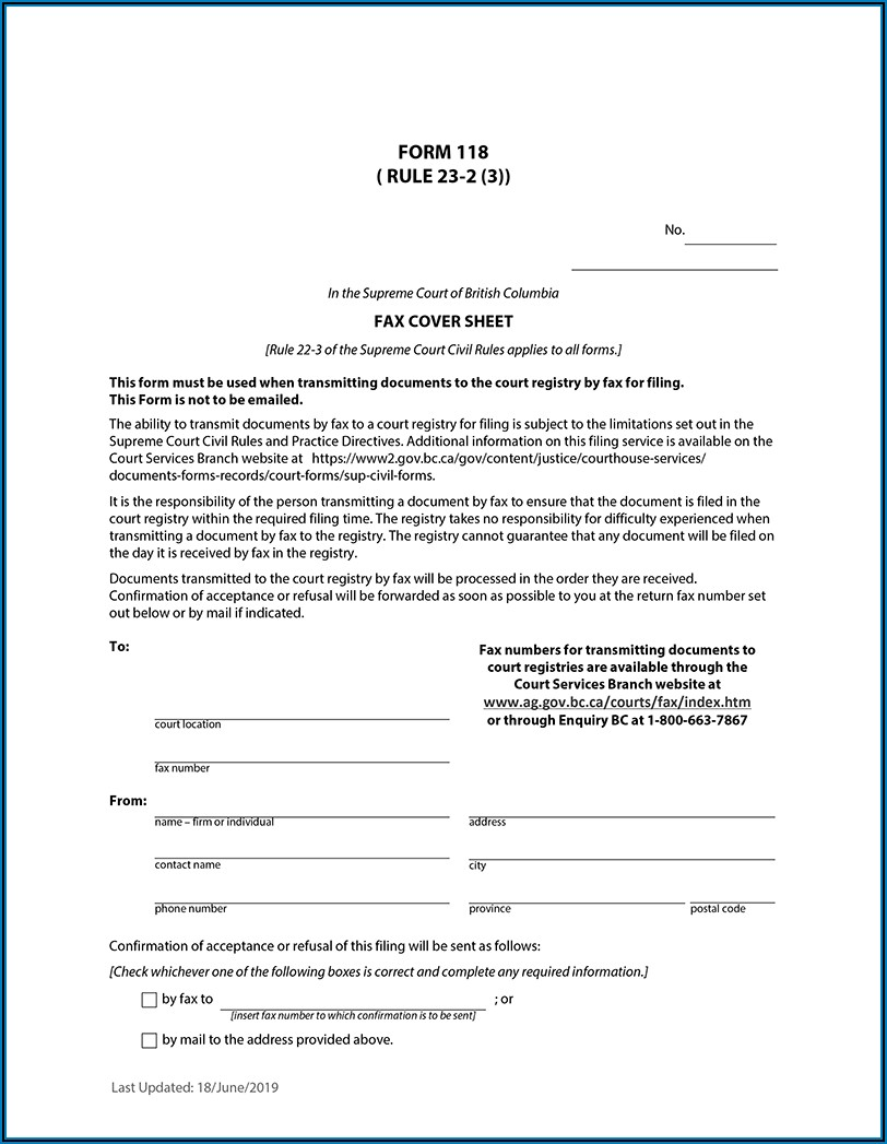 Supreme Court Affidavit Template