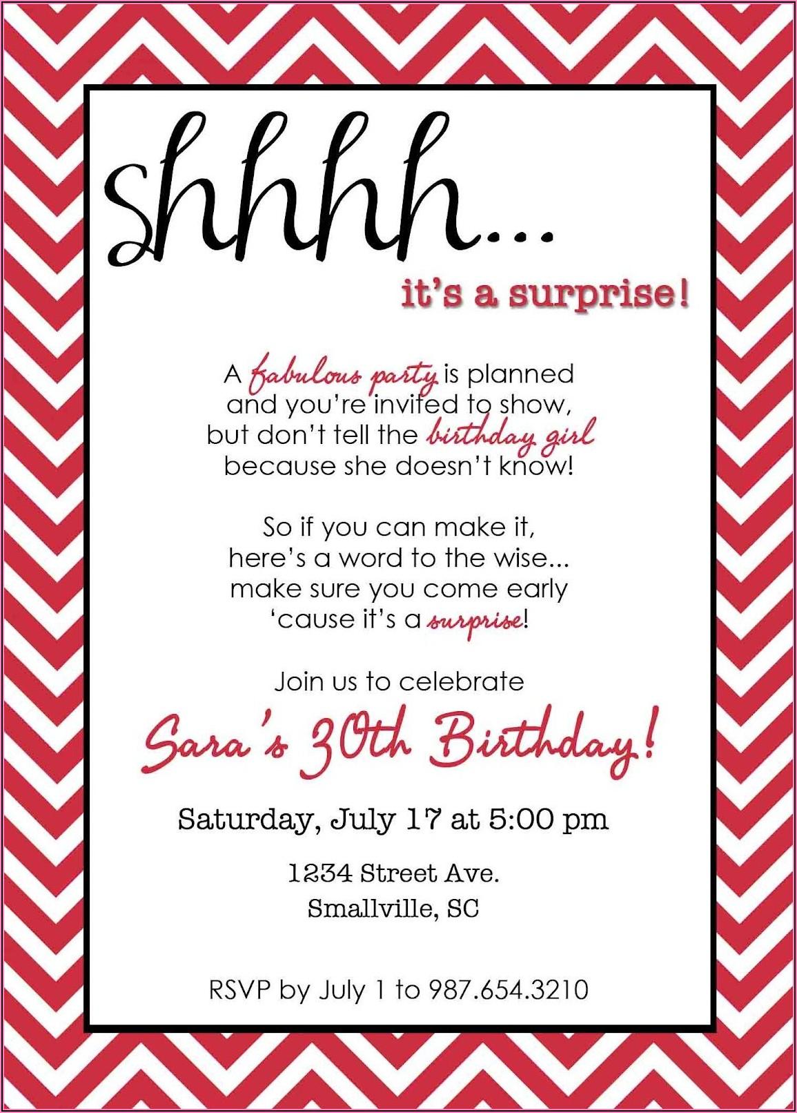 Surprise 60th Birthday Invitation Sayings