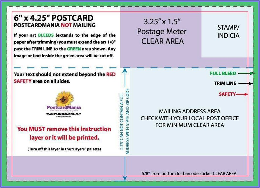 Template For Postcard Mailer
