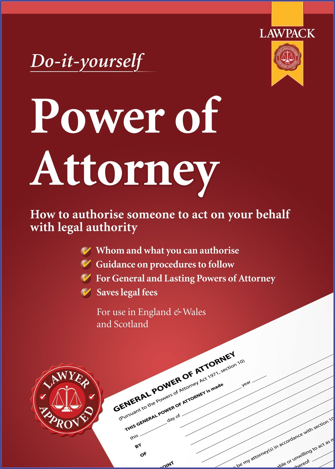 Template For Power Of Attorney Uk