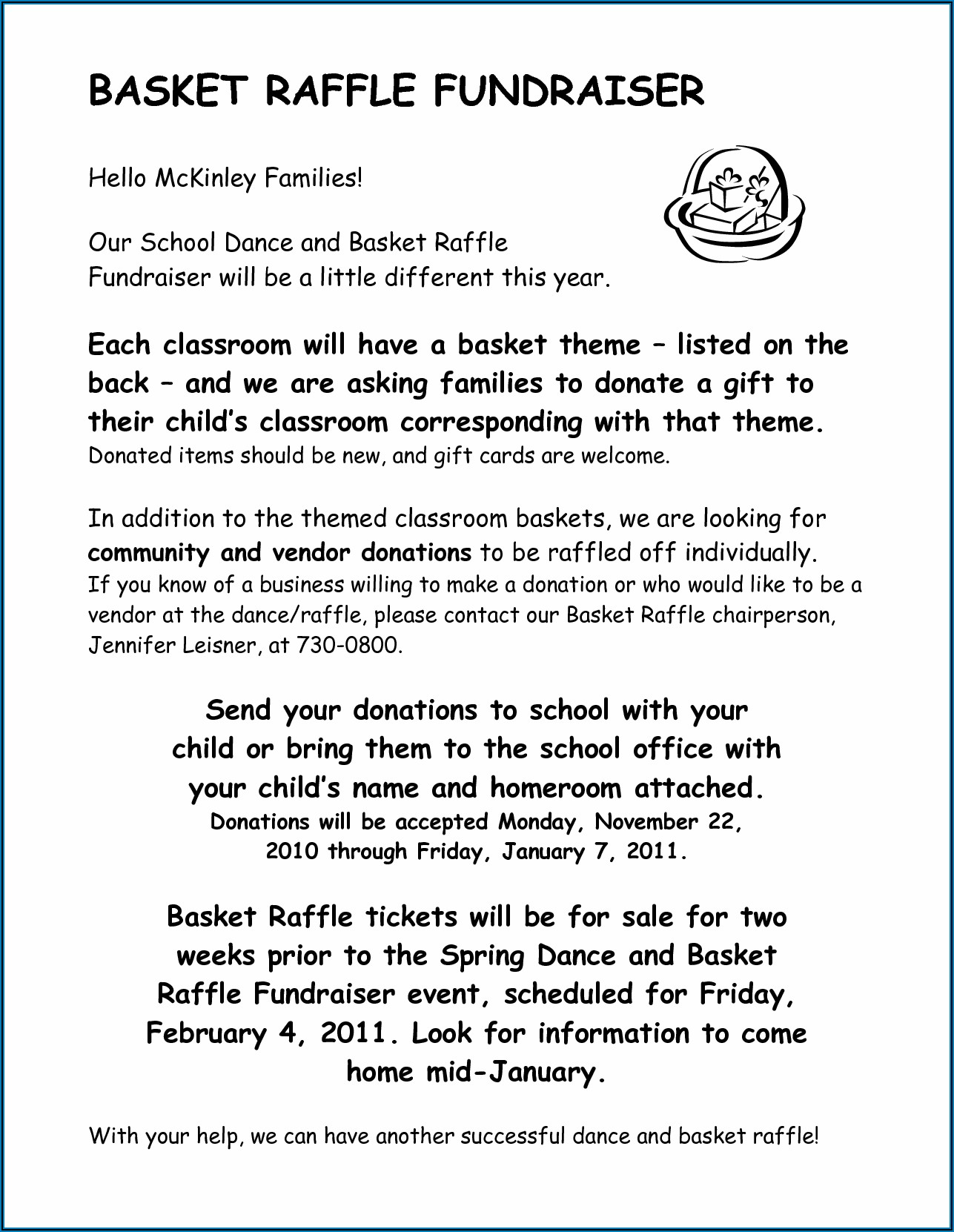 Template Letter Asking For Raffle Donations
