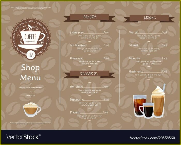 Template Menu Cafe Free