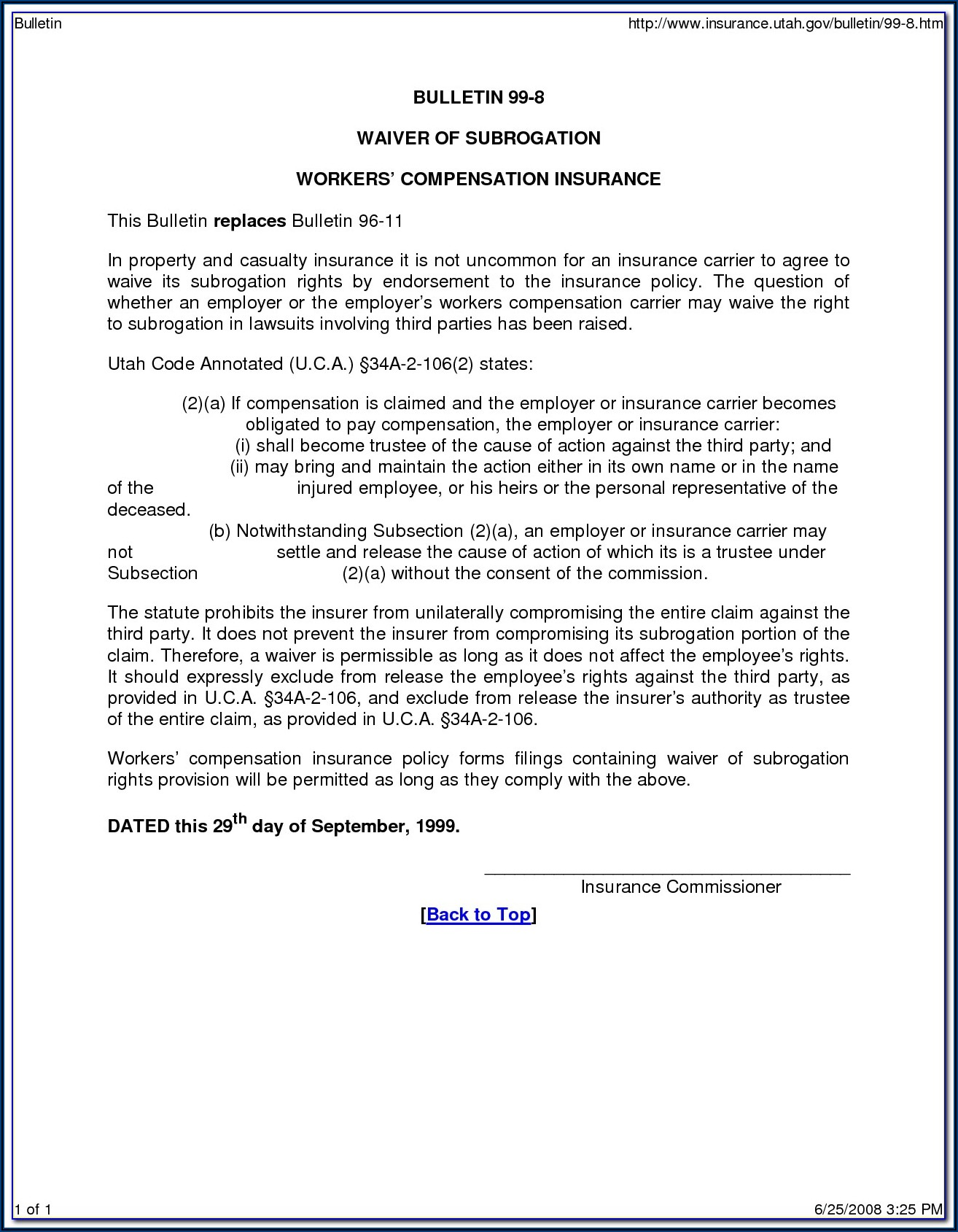 Texas Workers Compensation Waiver Of Subrogation Form