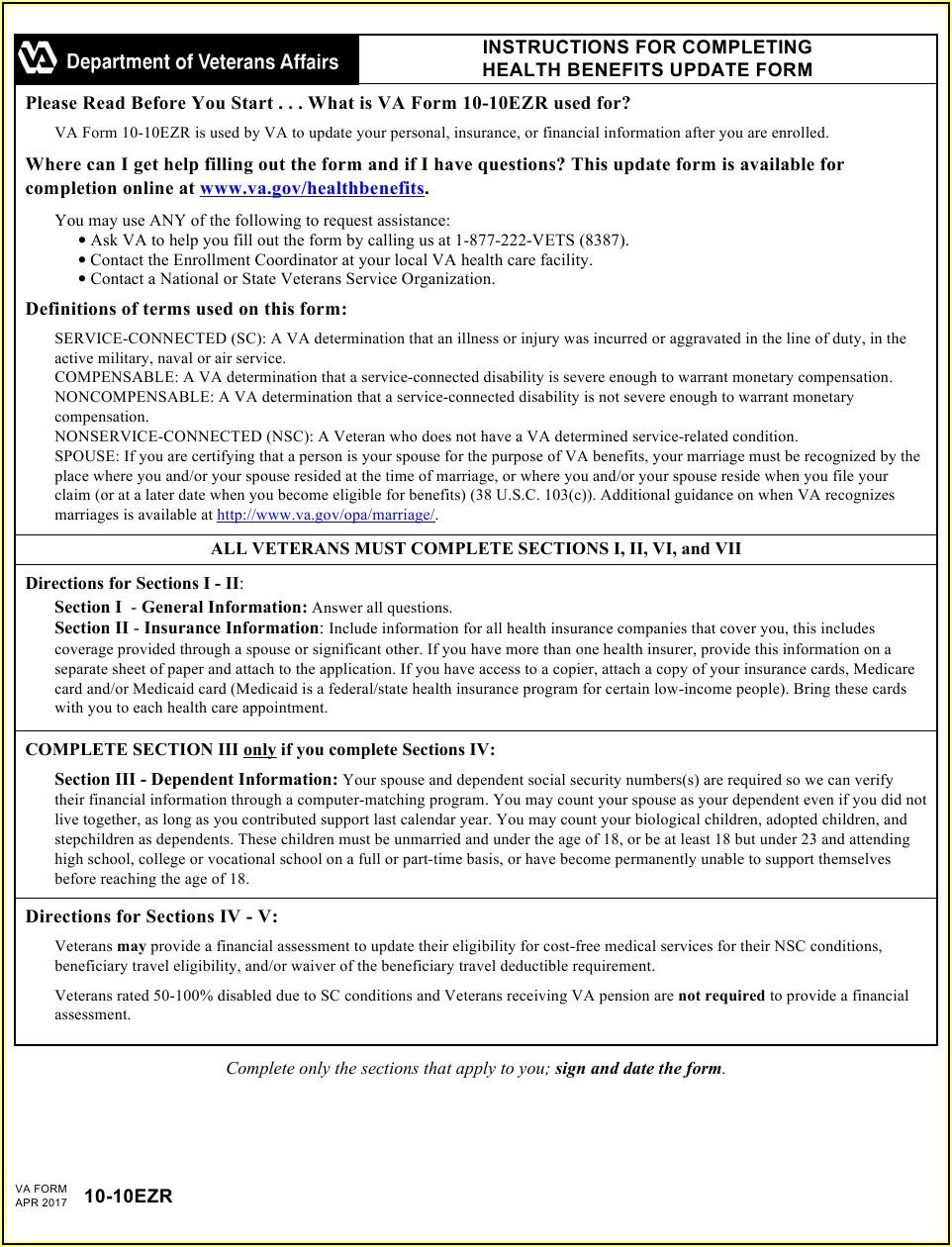 Va.gov Forms 10 10ez