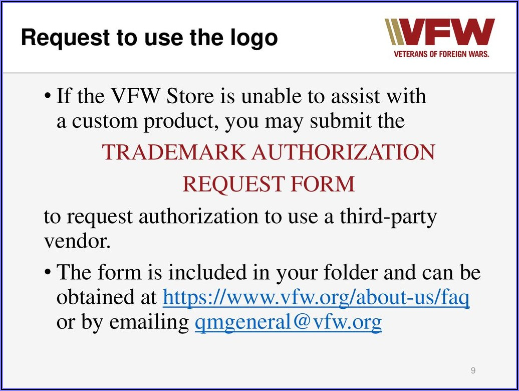Vfw Store Order Form