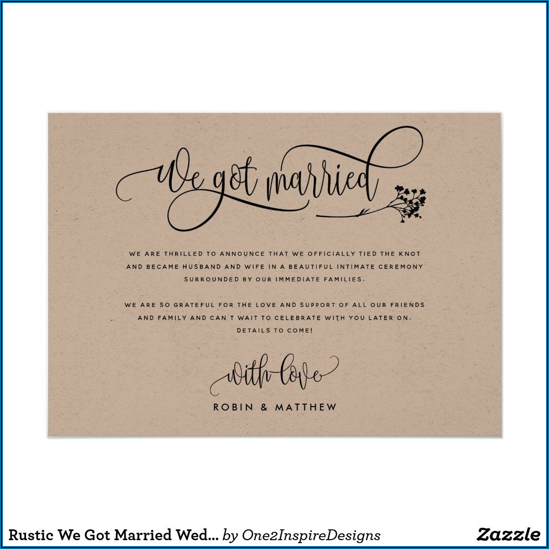 We Got Married Announcement Cards