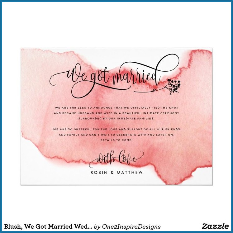 We Got Married Announcement Wording