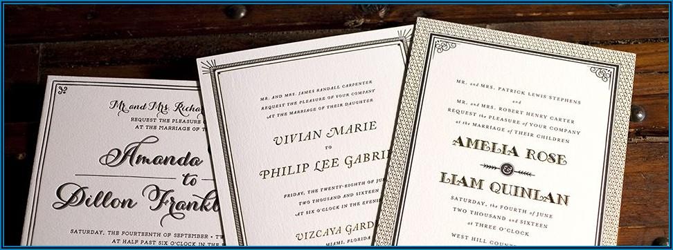 Wedding Announcement Cards Etiquette