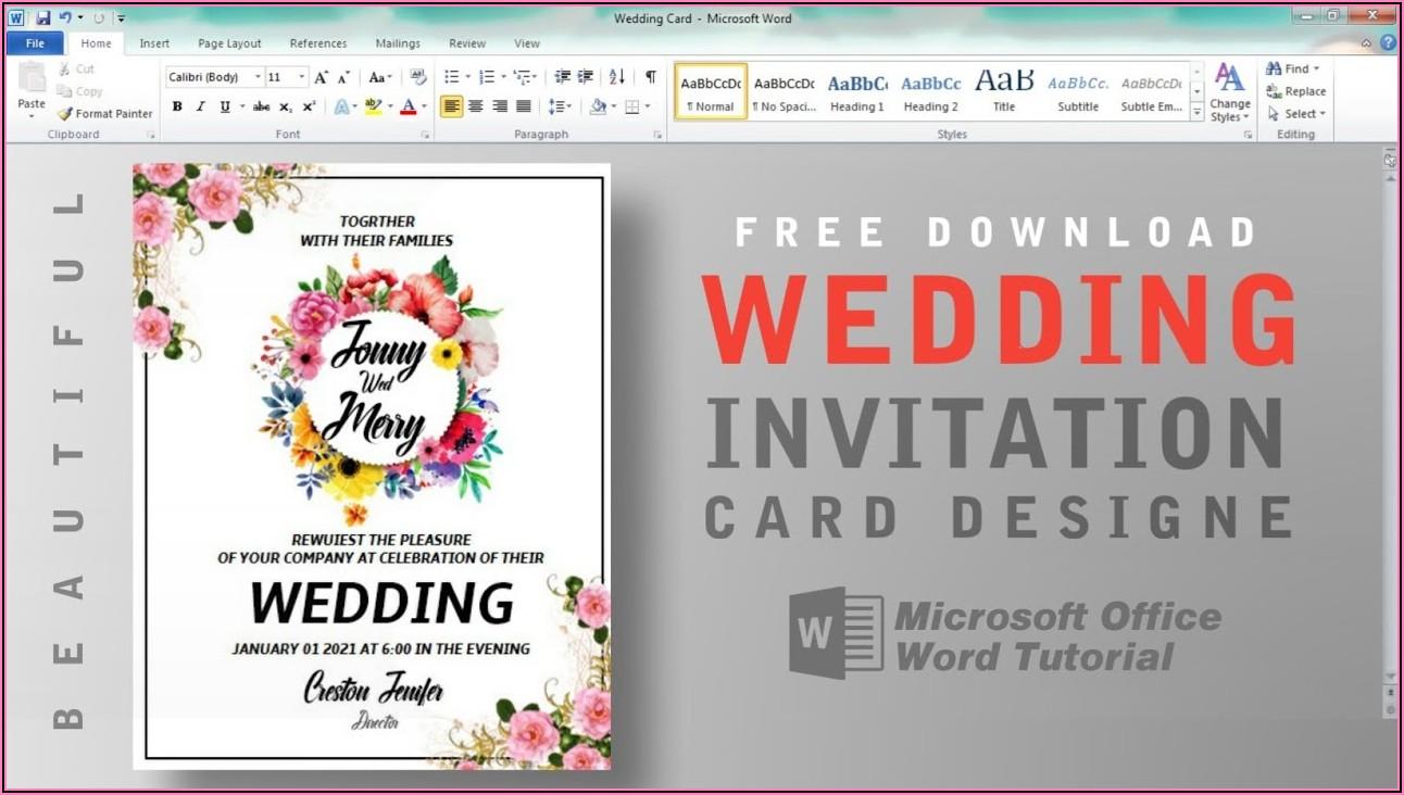 Wedding Invitation Templates Free Download Word