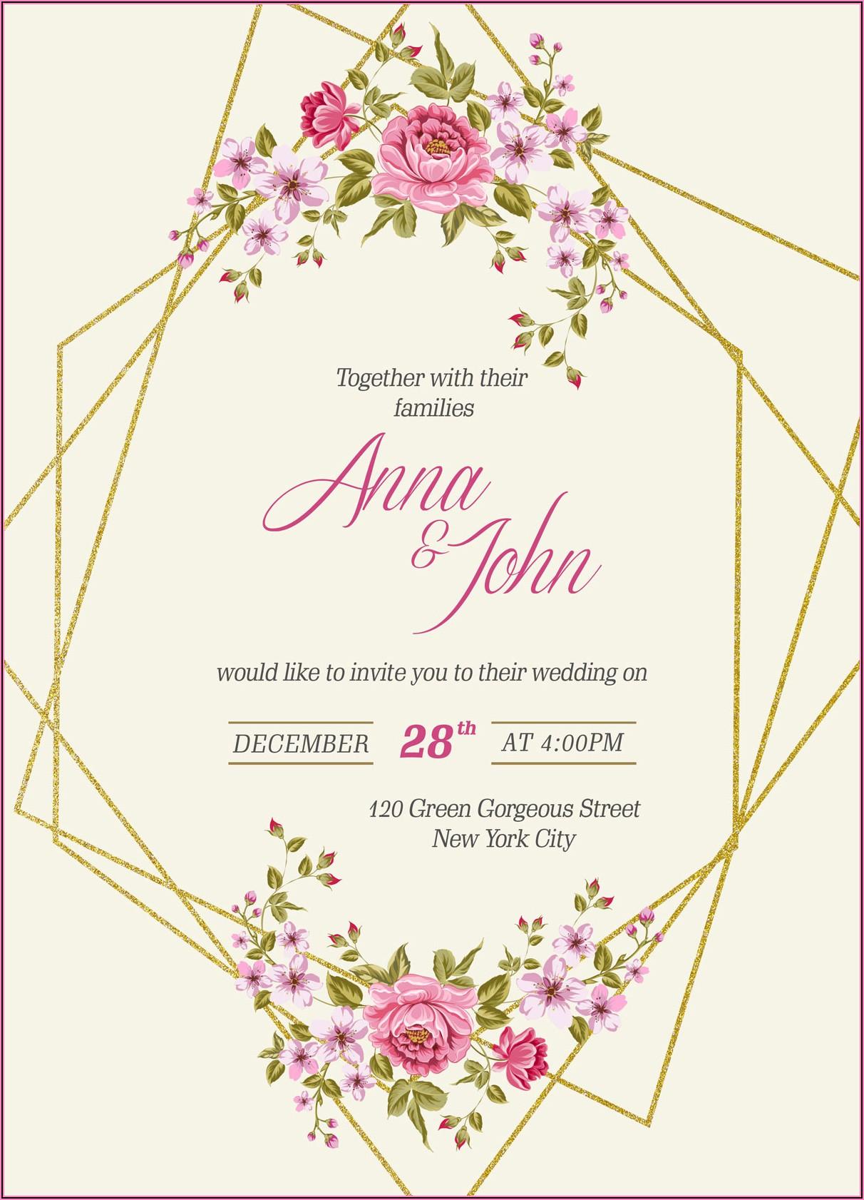 Wedding Invitation Templates Free Psd