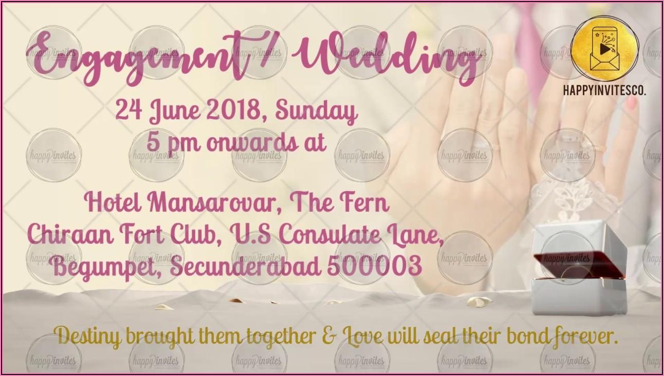 Wedding Invitation Video Maker With Photos