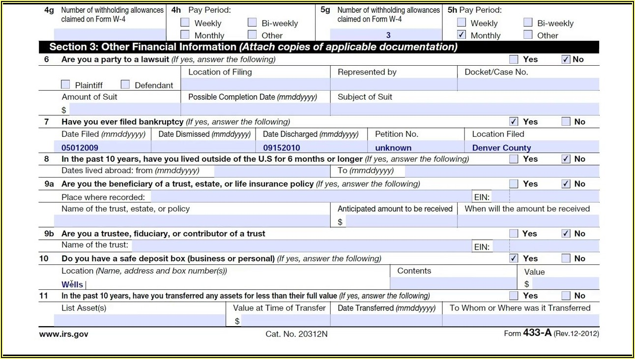 Where To Send Irs Form 433 D