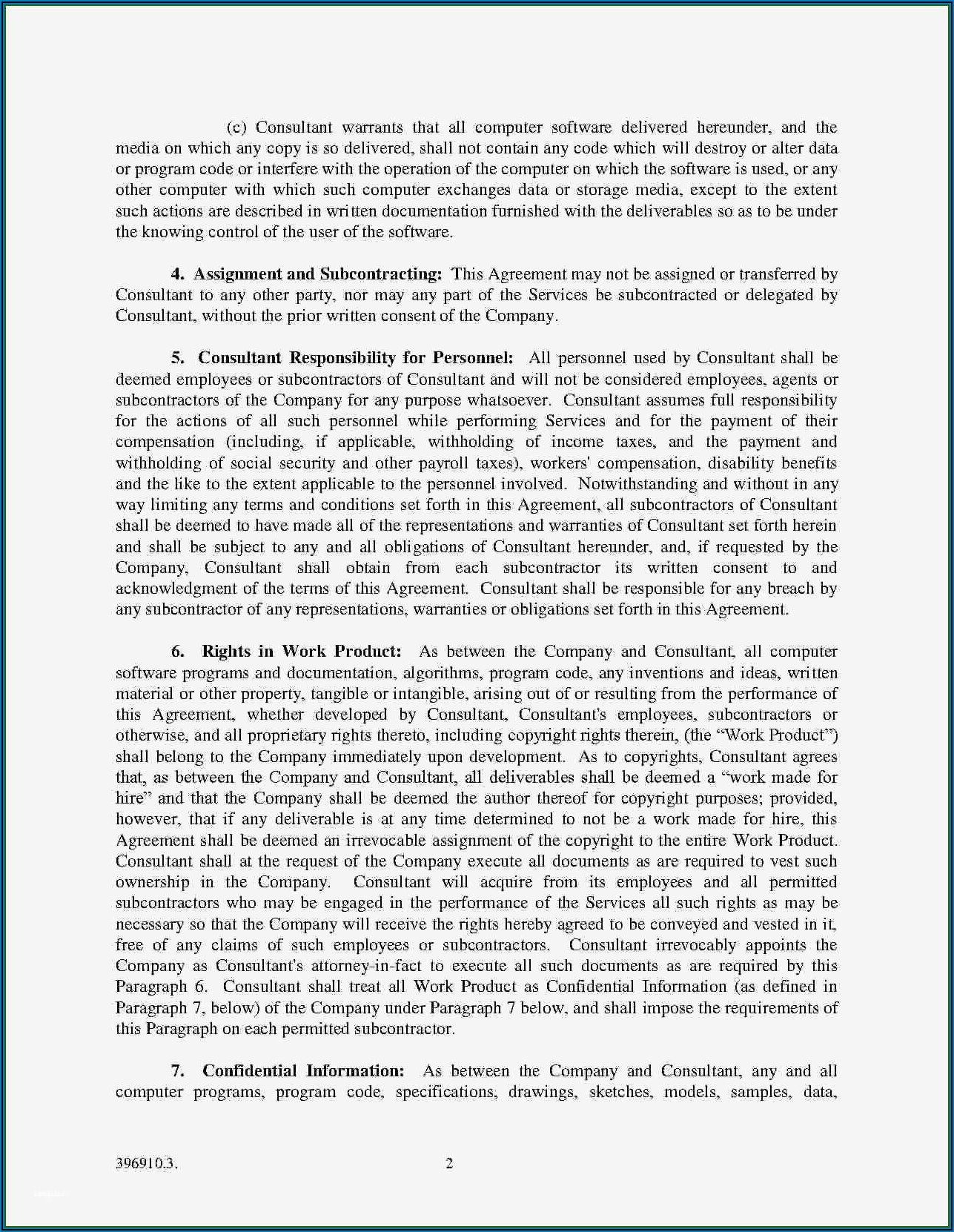 Work For Hire Agreement Template Free