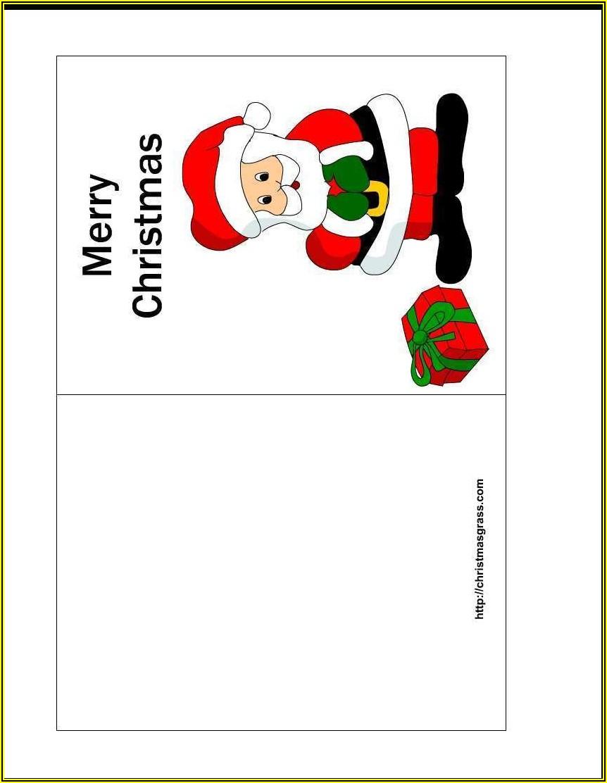 Xmas Card Template Word