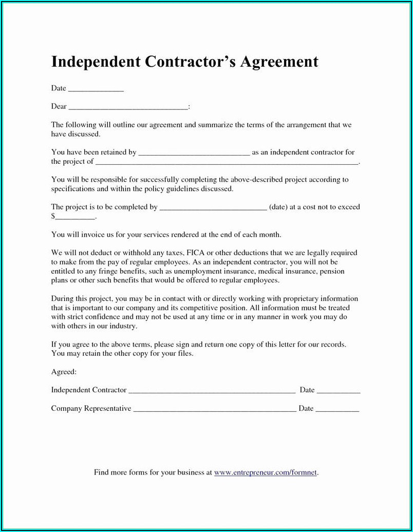 1099 Contractor Forms Free Download