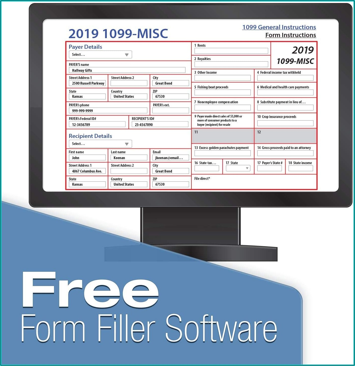 1099 Forms Download 2019