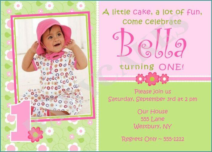 1st Birthday Girl Invitation Templates