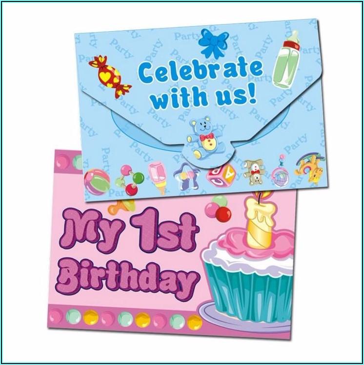 1st Birthday Invitation Card For Girl