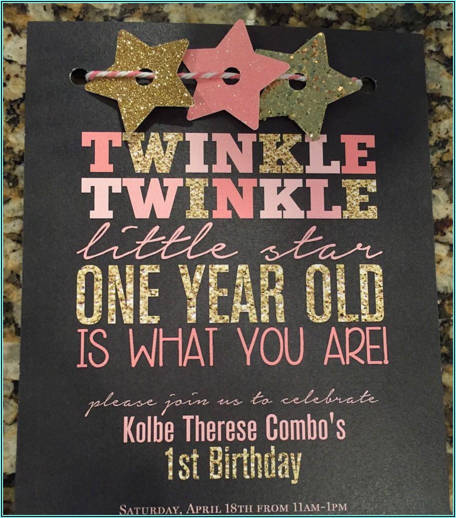 1st Birthday Invitations Girl Quotes