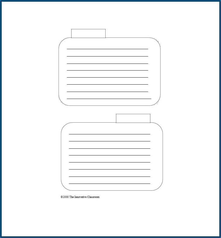 4x5 Card Template Word