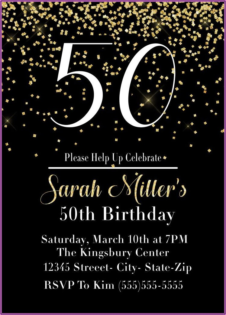 50th Birthday Invitations With Pictures
