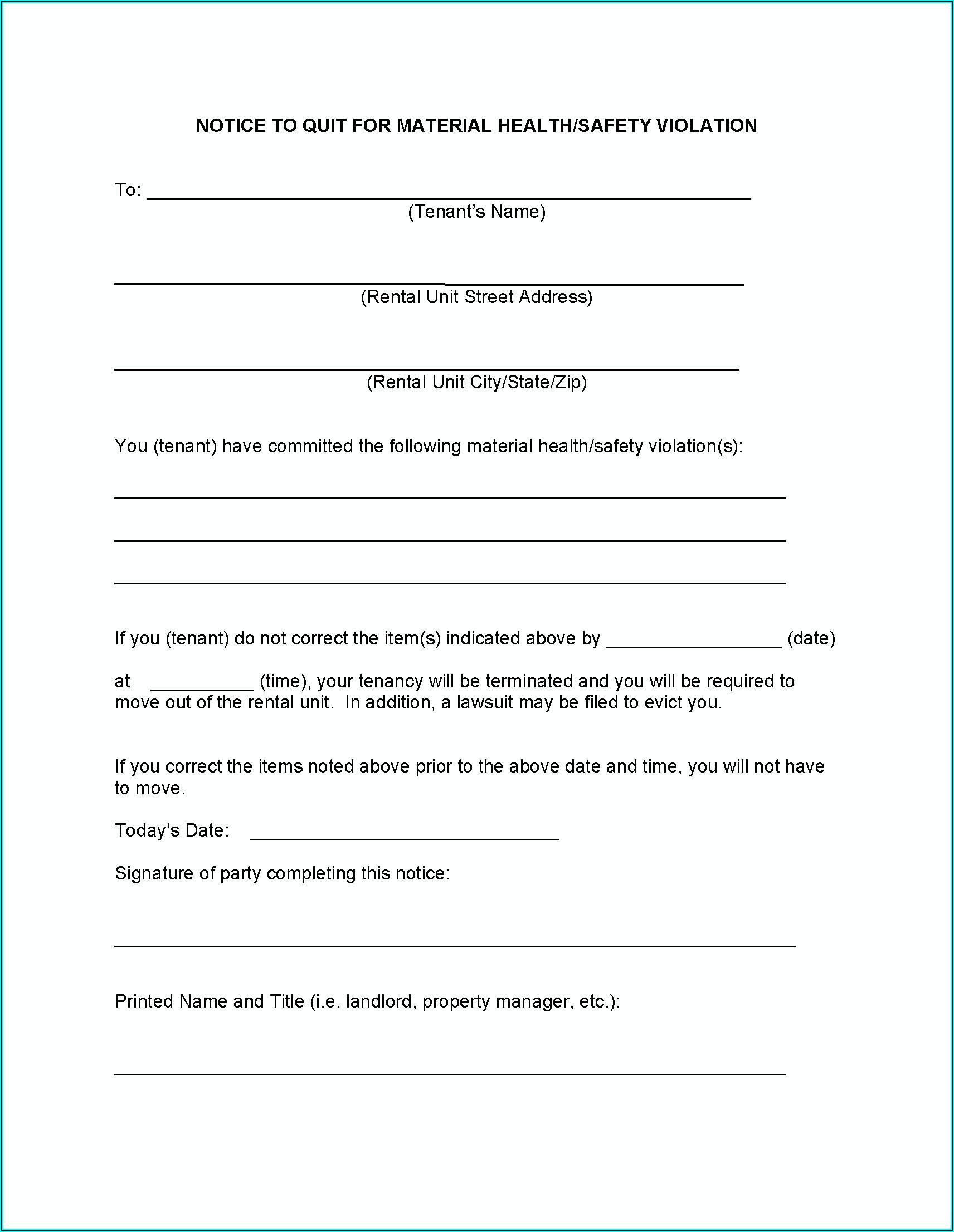 7 Day Eviction Notice Form Alabama
