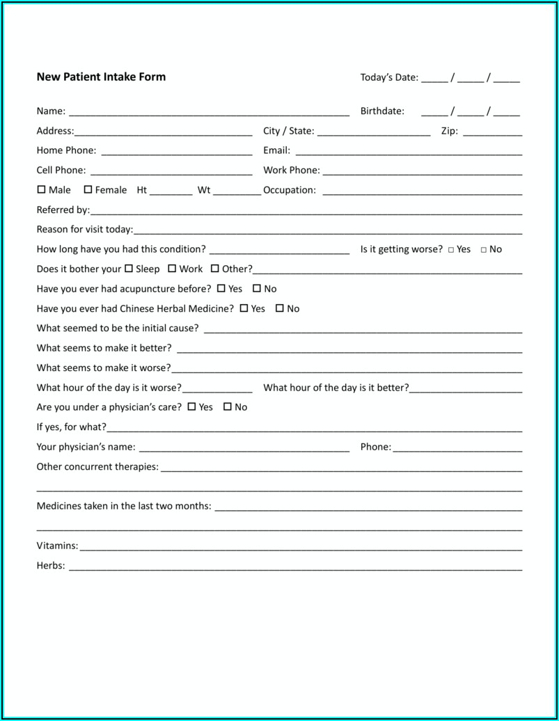 Acupuncture Consent Form Ccpa