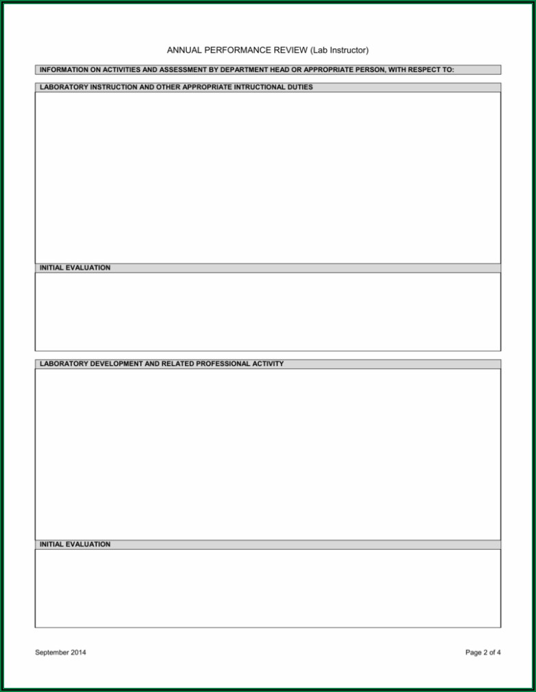 Annual Performance Review Form