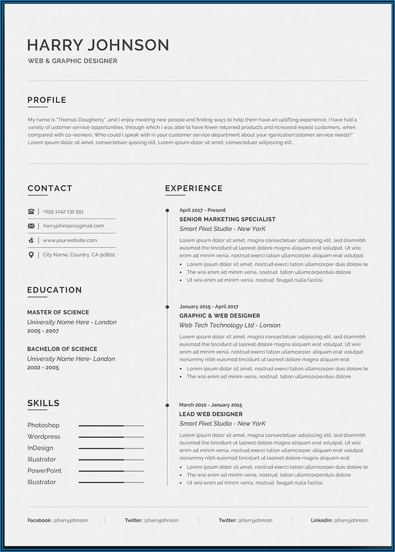 Ats Resume Template Free Download Word