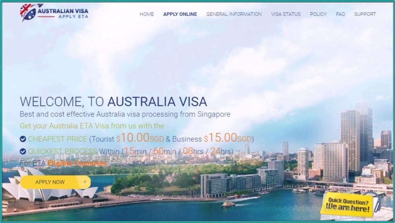 Australian Tourist Visa Application Form