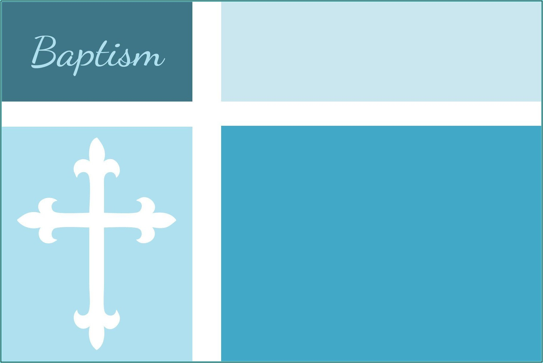Baby Boy Baptism Invitation Background