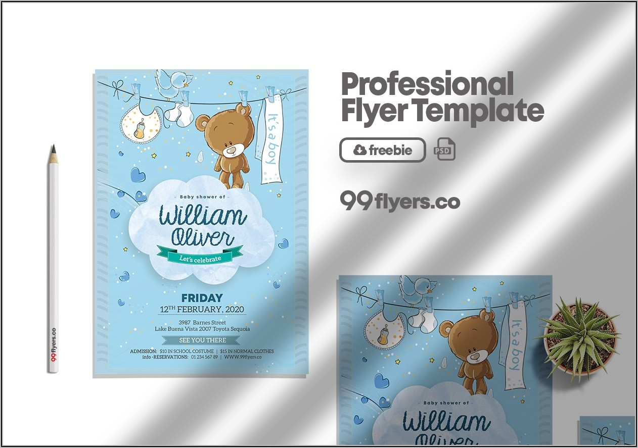 Baby Boy Birth Announcement Template Free