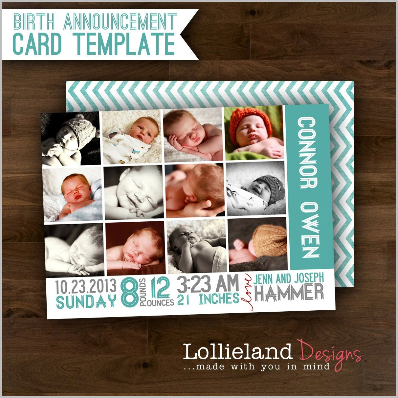 Baby Boy Birth Announcement Template