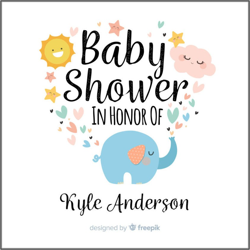 Baby Boy Shower Invite Template Free