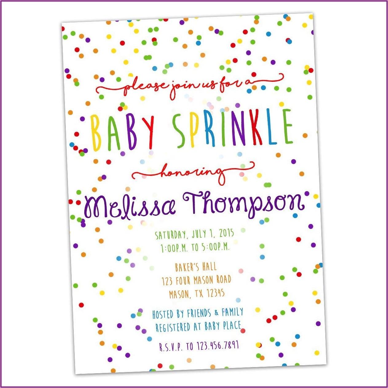 Baby Boy Sprinkle Shower Invitations