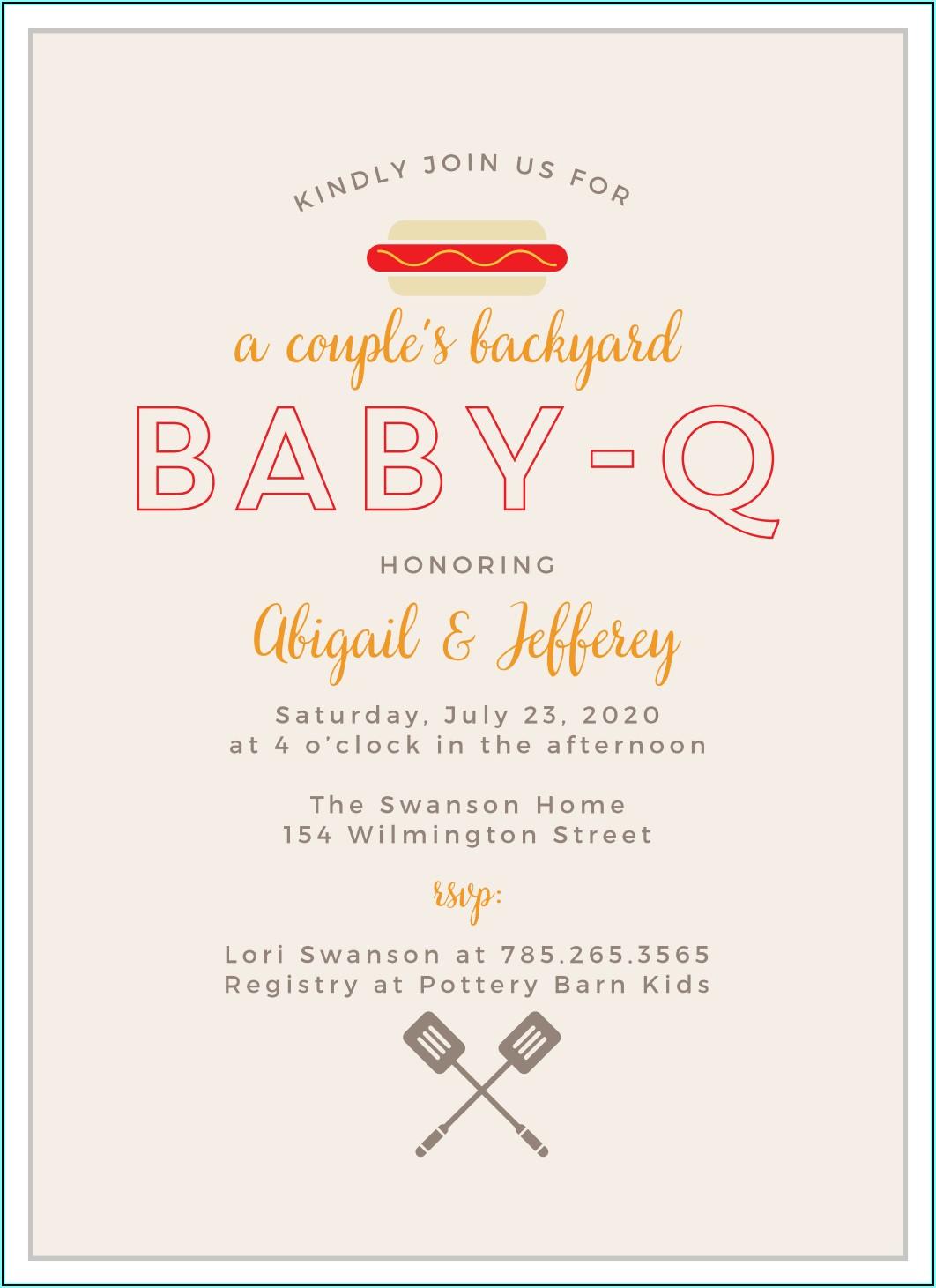 Baby Q Invite Free
