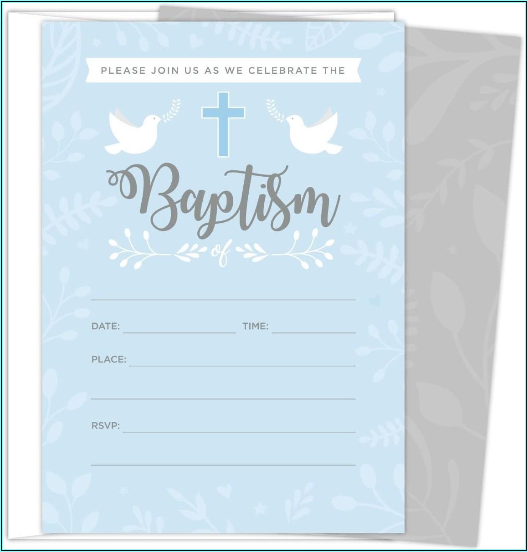 Baptismal Invitation Background Baby Boy